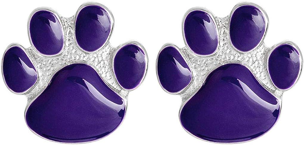 Charmart Dog Paw Lapel Pin 2 Piece Set Purple Cat Kitten Paw Claw Enamel Brooch Pin Badges Gifts