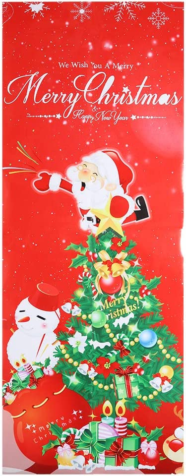 Pelnotac Max 55% OFF 3D Door Sticker Christmas Ranking integrated 1st place Patt Themed Santa Claus Tree