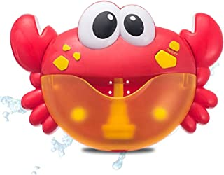 Bubble Machine Blowing Bubble Frog&Crabs Baby Bath Toy Bubble Maker Swimming Bathtub Soap Machine Toy for Children with Mu...