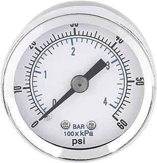 REFURBISHHOUSE 0-12BAR 0-170PSI Rosca 10mm Manometro del compresor de la presion de la bomba de aire del gas