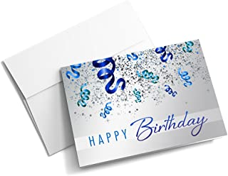 Birthday Confetti Galore - Birthday Cards | 25 Junior Greeting Cards with Your Custom Message and Envelopes | Printed in the USA