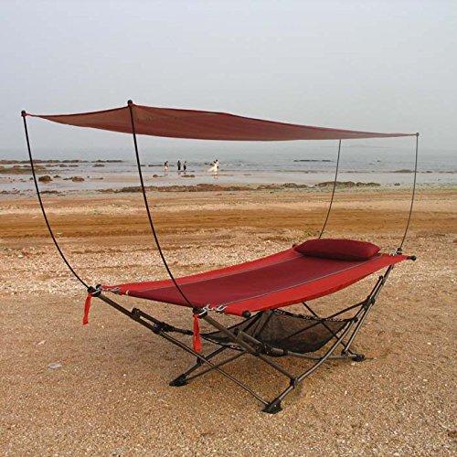 Ombra esterna anti-zanzara Hammock pieghevole Pausa pranzo giardino terrazza tempo libero swing Super Strong