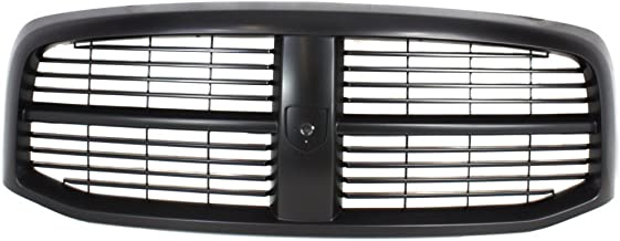 Grille for Dodge Full Size P/U 06-09 Horizontal Bar Insert Plastic Painted-Black New Body Style
