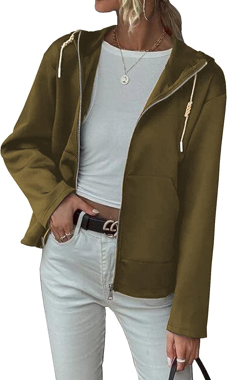 rrhss Womens Jacket Hoodie Sweatshirt Long Sleeve Casual Sport Coat