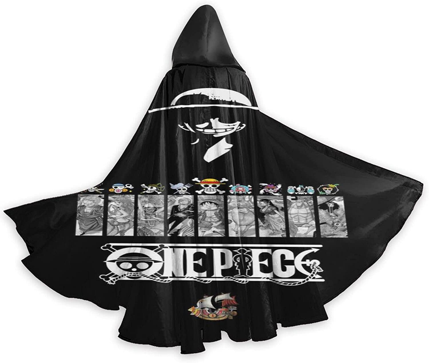 Unisex ONE P-IECE 2021new shipping free shipping Anime Hooded Cospl Cloak Halloween Robe Wizard Detroit Mall