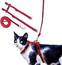 OFPUPPY Adjustable Cat Harness and Leash Set Velvet and Nylon Lead for Kitty Kitten Walking