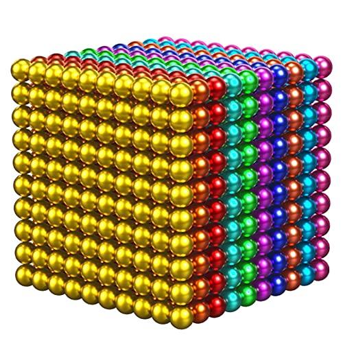PZV 1000 Piezas 3 milímetros M-Agnético Bolas Edificios Bloques Bloques Juguetes para el Desarrollo de Aprendizaje de Inteligencia y Alivio de estrés Creativo Juguetes educativos
