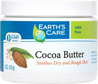 Earth's Care Cocoa Butter - Pure Raw Natural Cocoa Butter for Body, Hair and DIY Projects 5 OZ