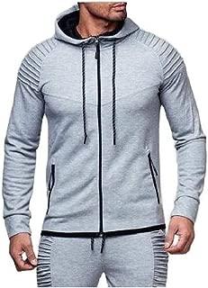 MogogoMen with Pockets Zipper Slim Fashion Athletic Blouse Sweatshirts