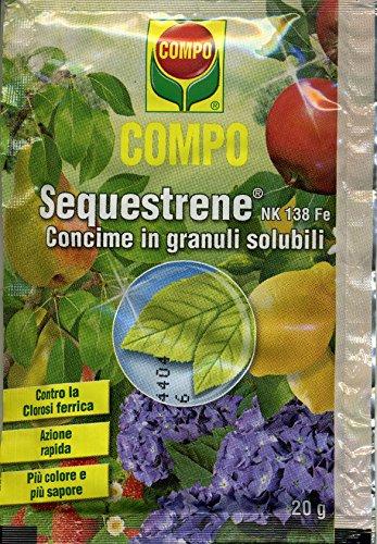 SEQUESTRENE NK 138 FE (concime contro la clorosi ferrica) da 20 grammi