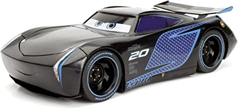 NEW 1:24 JADA TOYS DISPLAY COLLECTION - BLACK DISNEY PIXAR CARS 3 JACKSON STORM Diecast Model Car By Jada Toys (Without Retail Box)