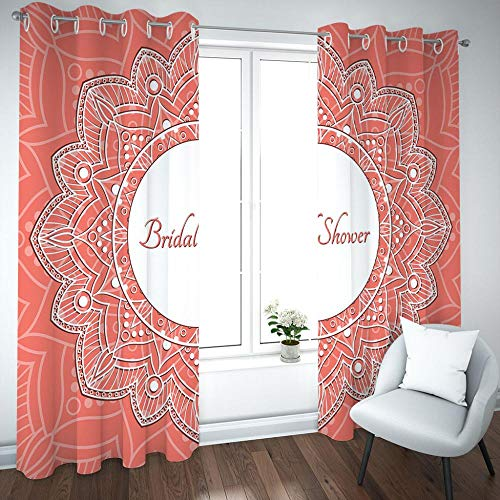 HUILIYI 3D Printing Curtains Alphabet white flowers Children'S Bedroom Curtains Soundproof curtain living room bedroom officeW46 x H72(234x183cm)