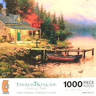 THOMAS KINKADE Painter of Light THE END OF A PERFECT DAY 1000 Piece Jigsaw Puzzle MADE IN USA by Ceaco