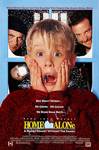 Posters USA - Home Alone Movie Poster GLOSSY FINISH - MOV449 (24' x 36' (61cm x 91.5cm))