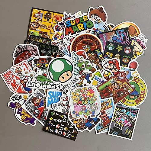 XIANGAN Super Mario pegatinas 200 unids/lote Anime video juego Mario etiqueta impermeable maleta DIY portátil guitarra monopatín teléfono celular ordenador juguete encantador pegatinas
