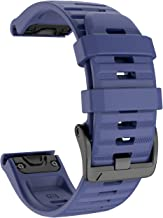 ANCOOL Compatible with Fenix 6X Bands 26MM Easy-fit Soft Silicone Watch Band Replacement for Fenix 6X/Fenix 6X Pro/Fenix 5X/Fenix 5X Plus Smartwatches, Dark Blue