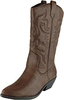 Women's Western Pointed Toe Mid-Calf Cowboy Boot