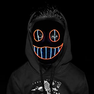 Purge Mask - Halloween Cosplay Lights up Mask for Halloween Festival Party (Suits not Included)