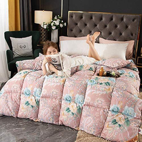 CHOU DAN Double Bed Duvet,Down Duvet White Goose Down Quilt Hotel Goose Down Quilt Core Thickened Autumn And Winter Quilt-5_1.5 * 2.0cm 2000g