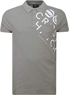 Crosshatch Lipmare T Shirt Collared Button Up Top Contrast Print Designer Tee