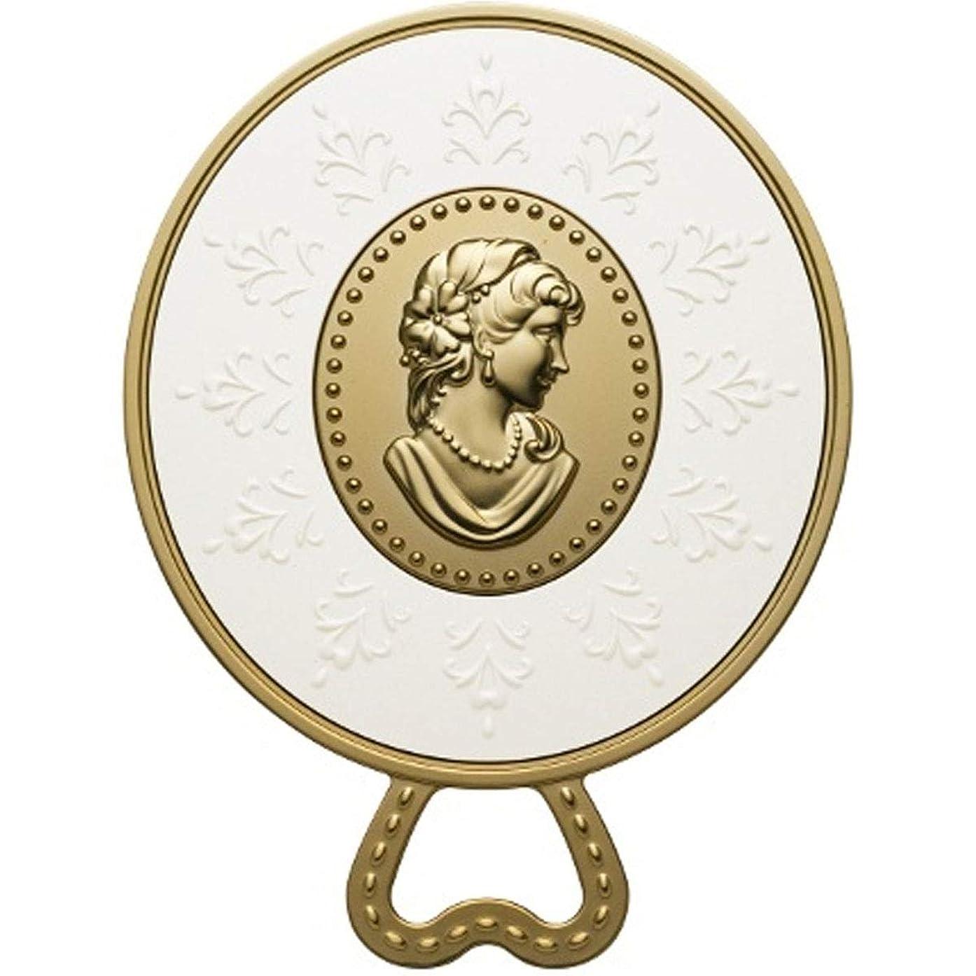 (レ?メルヴェイユーズ ラデュレ) Les Merveilleuses LADUREE ラデュレ ハンドミラー 鏡 カメオ アンティーク調 ゴールド 金 ブランド