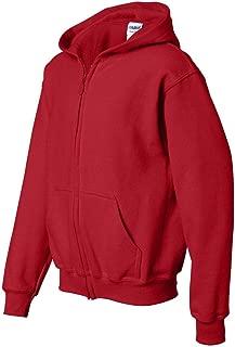 Gildan Big Boys' Heavy Blend Ribbed Full-Zip Hooded Sweatshirt