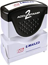 ACCU-STAMP2 Message Stamp with Shutter, 2-Color, EMAILED, 1-5/8