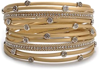 TASBERN Women Wrap Bracelet in Goldplated Metallic...