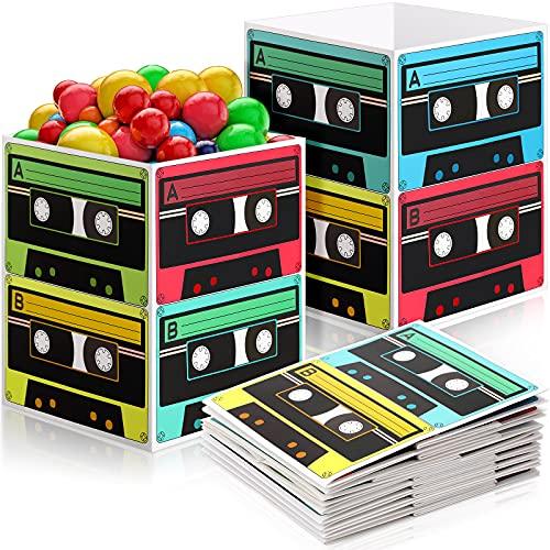 8 Pièces Pièce Maîtresse de Seau à Cassette des Années 80 et 90, Article de Fête Années 80 et Soirée à Thème Années 90, Décor de Table 5,5 x 7 Pouces, Fête de Culture Musique Hip Hop Rétro
