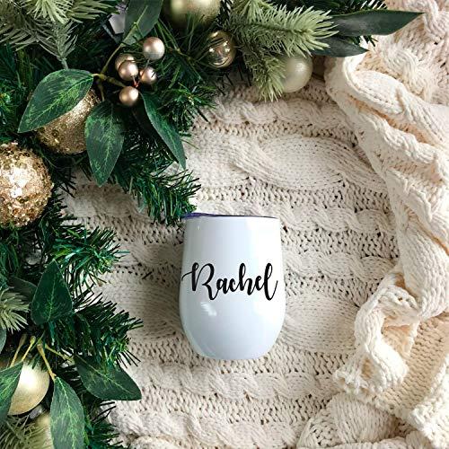 Vaso de vino personalizado, regalos de dama de honor, vaso de vino personalizado, vaso de vino Swig, regalos de dama de honor, regalos de Navidad, regalos de vacaciones para, 12 onzas