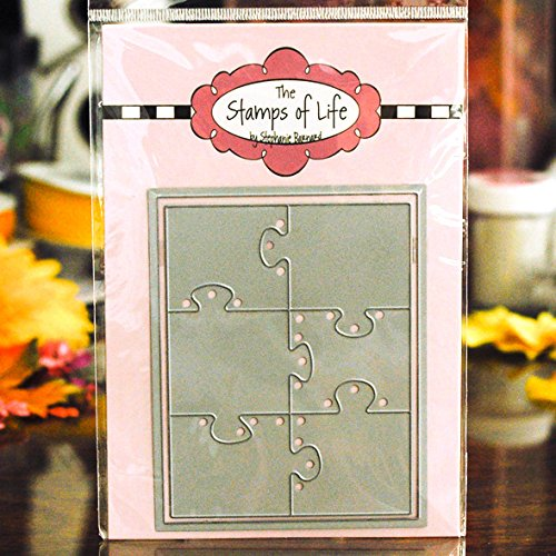 Medium Puzzles Die Cuts for Card-Making and Scrapbooking Supplies and DIY Crafts by The Stamps of Life - Patterns and Backgrounds