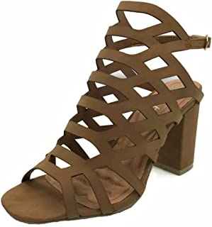 Womens Open Toe Wedge Sandal Ankle Strap Over Toe Mid High Heel