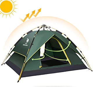 CAMELSPORTS Fourth-Generation Automatic Hydraulic Tent for 2-3 Person Outdoor Waterproof UV Protection 4 Season Camping Tent