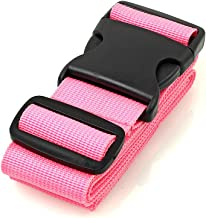 BlueCosto Luggage Strap Suitcase Straps Belts Travel Accessories, 1-Pack, Pink