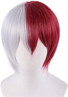 DAZCOS Shoto Todoroki Silver Red Cosplay Wig (Silver)