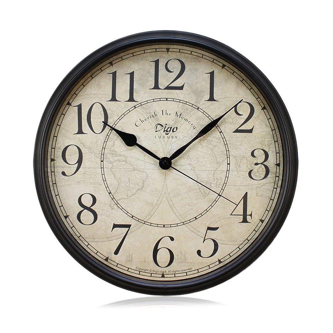 目の前のロック解除窓掛け時計 欧風 おしゃれなインテリア 時計 連続秒針 音無し 電池式 直径約30cm (アラブ)