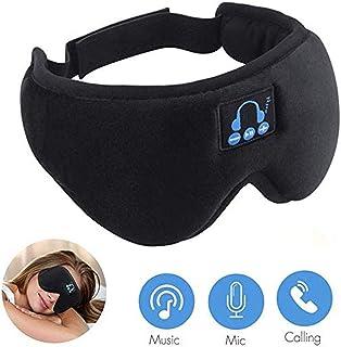 DoubleCare Ecouteur masque, Casque Bluetooth 5.0 pour masque de sommeil, ecouteurs 3D sans fil, cache-ail en forme de musi...