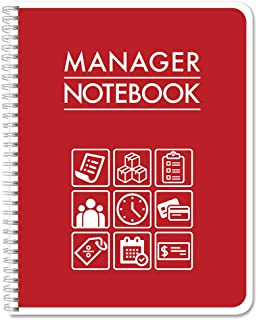 "BookFactory Manager Notebook/Managerial Log Book/Logbook - Wire-O, 100 Pages, 8.5"" x 11"" (LOG-100-7CW-PP(ManagerNotebook)-BX)"