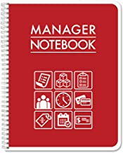 BookFactory Manager Notebook/Managerial Log Book/Logbook - Wire-O, 100 Pages, 8.5