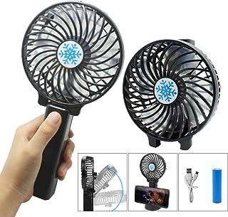 USB Ventilator, Handventilator, mit 3 Geschwindigkeiten,360 Einstellbarer,Ventilatoren Tischventilator Ideal für Kinderwagen,Reisen,Büro,AutoSchwarz