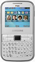 Samsung Ch@t 322 C3222 Unlocked Dual-Sim Phone with QWERTY Keyboard, 1.3 MP Camera and Music Player - International Warranty - Fuchsia Pink