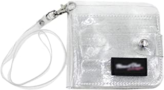 Women Girls Glitter Sequin Transparent PVC Slim Bifold Wallet ID Credit Card Case Holder Clutch Wallet Coin Purse