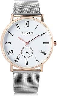 ea807d8f66bd15 Kevin orologio da uomo, moda quarzo analogico orologio con cinturino in  acciaio INOX, maglia