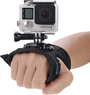 O RLY Large Glove-Style Wrist Strap Hand Mount 360 for GoPro Hero 3 4 5 6 7Black 8 Cam SJCAM/Apeman/campark/akaso Action C...