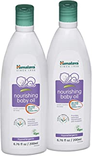 Himalaya Nourishing Baby Oil, Lanolin Free & Mineral Oil Free 6.76oz/200ml (2 Pack)