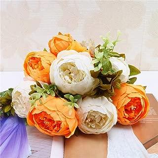 Gotian 1 Bouquet Vintage Artificial Peony Silk Flowers Bouquet for Wedding Party Home Decor (B)