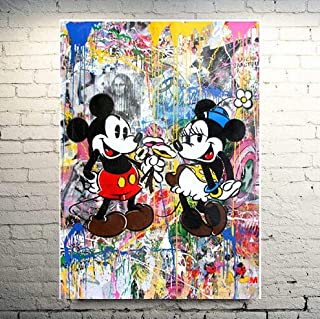 Best mickey mouse painting on canvas Reviews
