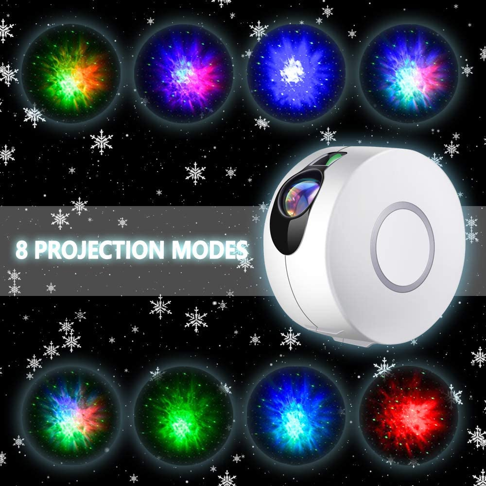 Galaxy Projector with LED Nebula Cloud,Star Light Projector with Remote Control for Kids Adults Bedroom//Home Theatre//Party//Game Rooms and Night Light Ambience-Silver Gray Star Projector