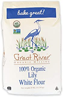 Great River Organic Milling, Lily White Bread Flour, All-Purpose, Organic, 25 Lb (Pack Of 1)