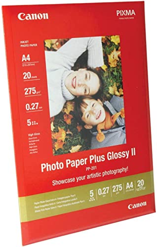 Canon PP-201 Papier Photo Brillant Format A4 (20 feuilles)